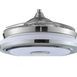 Shadow sound of LBA HOME, an efficient ceiling fan with retractable blades and a powerful LED