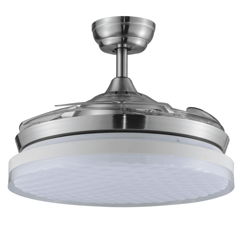 Shadow Wave of LBA HOME, an efficient ceiling fan with retractable blades and a powerful LED