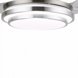 Shadow Classic of LBA HOME, an efficient ceiling fan with retractable blades and a powerful LED