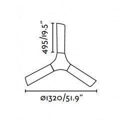 Ceiling Fan 132 cm. modern, abs white LAKKI 33317