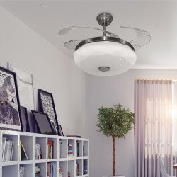 Shadow Diamond sound of LBA HOME, an efficient ceiling fan with retractable blades and a powerful LED