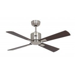 Ceiling Fan, DC, 103 Cm. Brushed chrome, silver gray / wenge blades remote CASAFAN Eco II Neo BN