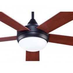 Modern ceiling fan 132 cm Rustic basalt gray, reversible blades cherry / walnut remote control