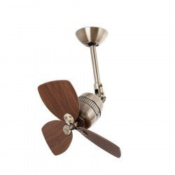 ceiling fan, aluminum, antique brass, 46 cm - Pepeo Toldeo AM