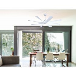 Large white ceiling fan DC 152 cm with thermostat, 3-tone light
