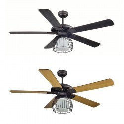 A 132 cm Modern Ceiling Fan with Light and Remote Control, Lba Home Cage