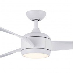 Ceiling fan DC design, 57.8in. White. 3 tones LED light, reversible, remote control, Koala LBA HOME