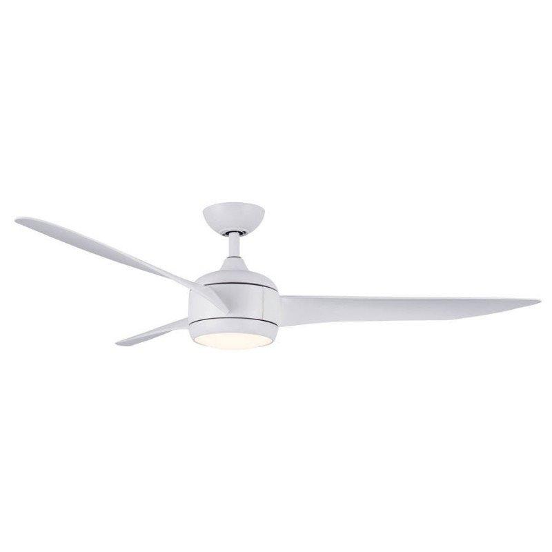 Ceiling fan DC design 147 cm white, 3 tone led light, reversible, remote control, Koala LBA HOME