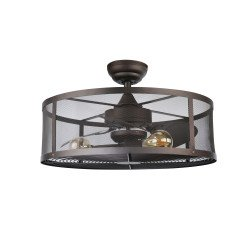 Cage. Ceiling fan with light, Unique desing with safety cage. With remote.