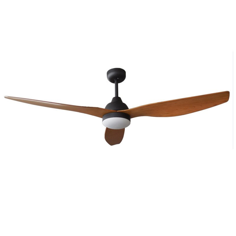 Flat Wood Wing Dc Ceiling Fan Wooden Blades Remote Control Light Kit
