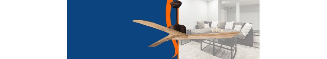 Ceiling fans for living rooms, medium rooms and large sizes of all styles.